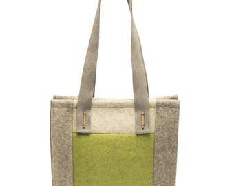 """VENDITA - """"Patch"""" - borsa di feltro di lana merino 100%. Borsa, sconto del 30% solo su questo colore"""