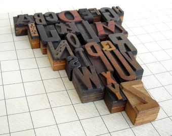 A to Z - Vintage Letterpress Wood Type Collection -VG110