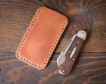 "Pocket knife slip case, size Extra Small, for knives up to 3"" closed length (MADE-TO-ORDER)"