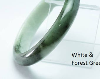 Green Jade Bangles 55 mm to 60 mm. Beautifully Crafted.