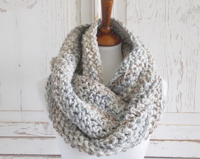Featured listing image: Chunky Infinity Scarf + STYLE #1035 + Pebble