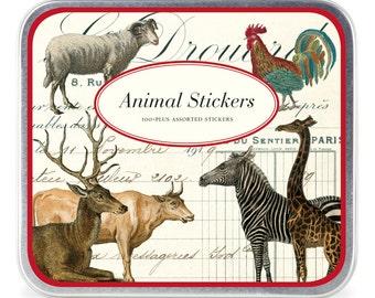 SALE Vintage images animal stickers