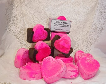 Valentine Soap, Rose Oil With a Pink Heart, Shea Butter and Coco Butte
