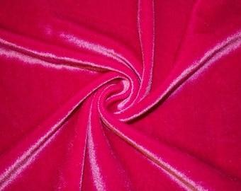 Stretch Velvet Fabric By the Yard - Fuschia