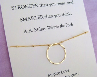 30th Birthday For Her Gold Circle Gift Necklace Sister Best Friend