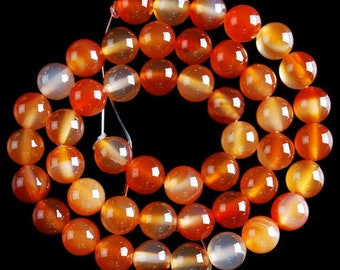 Carnelian - drilled - 4/6/8/10/12 / 14mm to choose from following thread - size about 85/65/45/35/30/25 beads