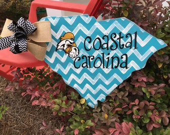 Coastal Carolina University, sale, Chanticleers, door hanger, South Carolina, Myrtle Beach, CCU,
