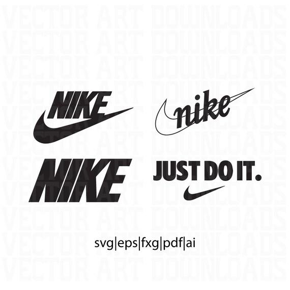 Nike inspired logo pack vector art svg pdf dxf eps ai