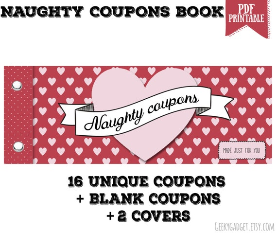Naughty Coupon Book 16 Printable Coupons For Boyfriend