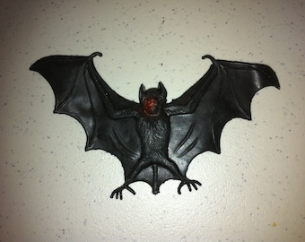1970s Halloween Rubber BAT Toy 4 inches
