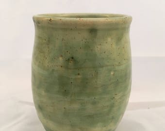 Handmade Ceramic Tumbler - Wheel Thrown Cup - Marbleized Stoneware - High Fire Pottery