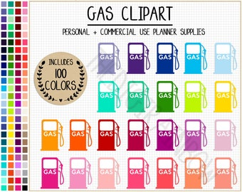 SALE 100 GAS PUMP clipart travel planner stickers rainbow car stickers travel icon vehicle clipart motor oil gas change car graphics trip