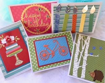 Birthday Card Set - Birthday Assortment - Birthday Cards - Handmade Cards - Card Set - Birthday Greetings - Birthday Set - Birthday Variety