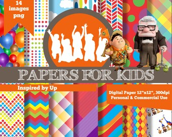 Digital Papers, Up, Invitation, Clipart, Background, Papers for kids