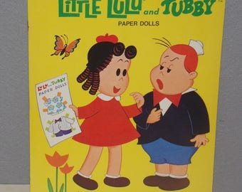 Let's Play Little LuLu and Tubby Vintage PAPER DOLLS Activity Book 1974 Full Color USA unused Collectibles Gift Idea