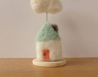 Cloud Cottage in Mint and Coral