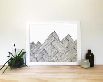 Mountain Drawing 4