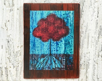 Magic Tree Wall Art by artist Rafi Perez Original Artist Enhanced Print On Wood
