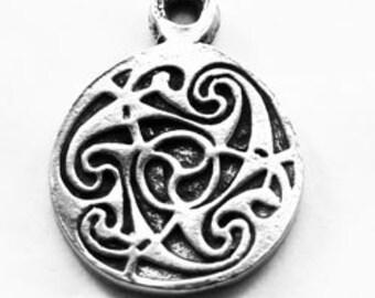 Small Triskelion Triskel celtic spiral pendant 1 bail Australian Pewter R409