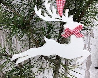 Christmas Ornament - Christmas Reindeer - Christmas Decorations - Reindeer Decoration - Christmas Deer - Wooden Reindeer - Rustic Deer Decor
