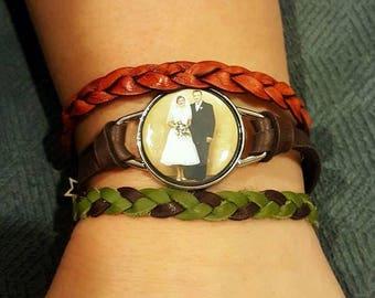 Custom Designed Leather Interchangeable Bracelet without Clik-inz