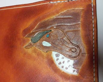 checkbook leather Appaloosa horse