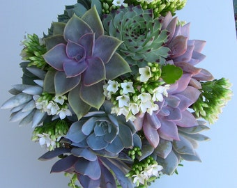 Succulent Wedding Bouquet,