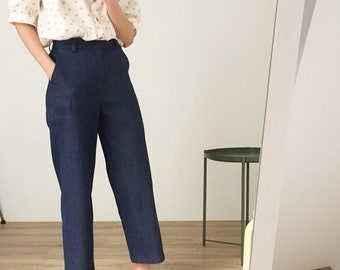 West Trousers- cropped denim sailor trousers with very subtle flare