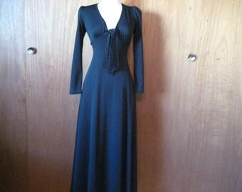 Black Floor Length California Look Dress