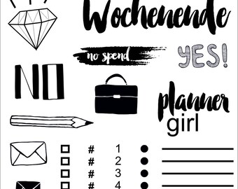 Clear stamps _ planner girl _ 013