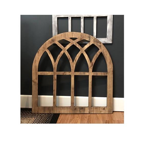 "Sale alerts for  Arch Wood Window 32"" x 32"" Wall Decor 3/4"" Quality Maple Lumber, Living Room Decor, Farmhouse Style, Farmhouse decor - Covvet"