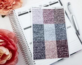 Glitter Headers, Planner Stickers, Faux Glitter | Glitter Headers Neutral