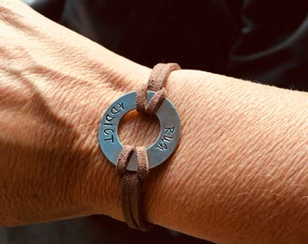 Customizable handmade cercleByLn jewelry stamped bracelet