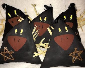Primitive Crows, Folk Art Crows, Prim Crows, Primitive Folk Art Crows, Grungy Make-Do Crows