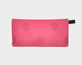 Polka Dot - pencil case - makeup bag