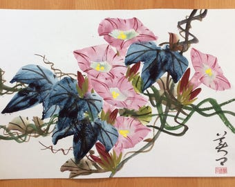 Original Chinese Painting-Flower(Morning Glory)