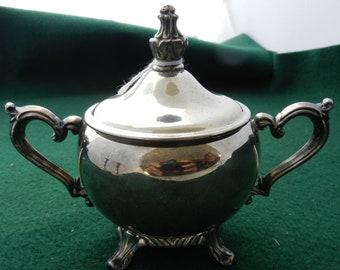 Vintage SilverPlate Sugar Bowl with Lid