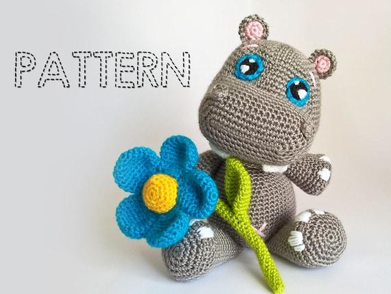 Crochet Amigurumi For Baby : Sale baby hippo crochet pattern hippopotamus amigurumi