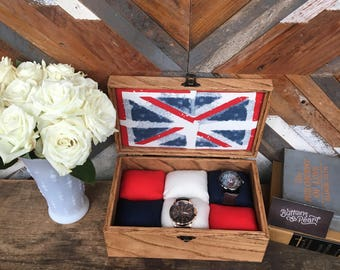 Union Jack - British flag - watch box - watch case - jewelry box