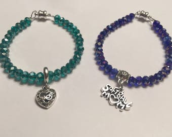 Sale!Mom charm bracelet/softball mom