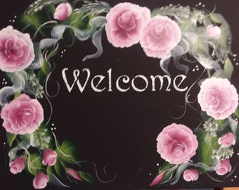 Shabby Chic Welcome Roses