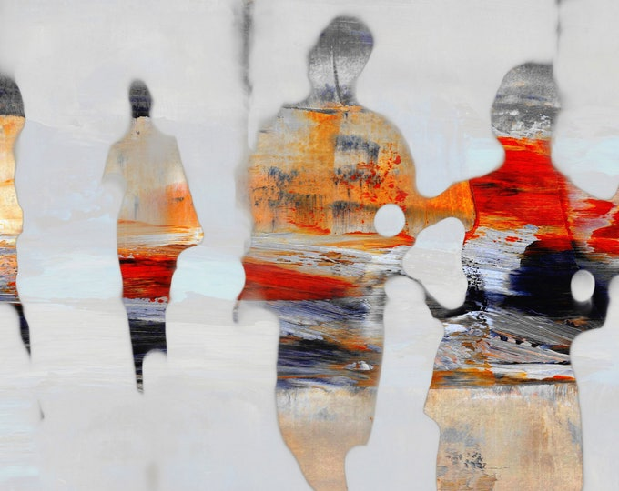 SAIGON BLUR XXXV - Mixed Media Art by Sven Pfrommer - Artwork is ready to hang