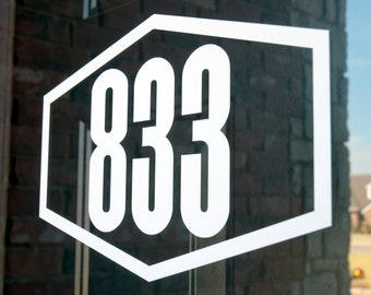Address with Border 9 (Large) - Vinyl Decal