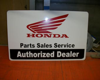 Honda Parts Sales Service metal sign 23x15 inch