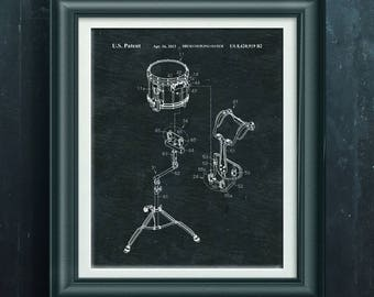 Marching Band Snare Drum Patent Drum Print Drummer Artwork Percussion Wall Art Percussionist Decor Band Camp Poster Drummer Art Gift PP 5020