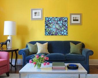 Original Abstract Painting, Acrylic 16x20 Canvas, Modern Wall Art, STARS