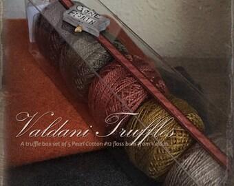 "Valdani Thread: Gift Set/5 Perle Cotton Embroidery Thread Balls - ""Gone Fishin"" Collection"
