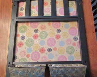 Repurposed Vintage Memo Board, Message Board