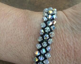 swarovski  crystal beaded bracelet  FREE SHIPPING