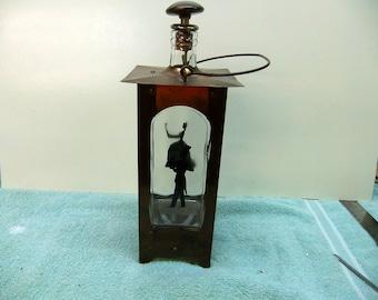 Vintage Liquor Decanter - Music Box - Vintage Gentleman & Lady Silhouette